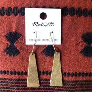 Madewell Petaldrop Gold Ox earrings